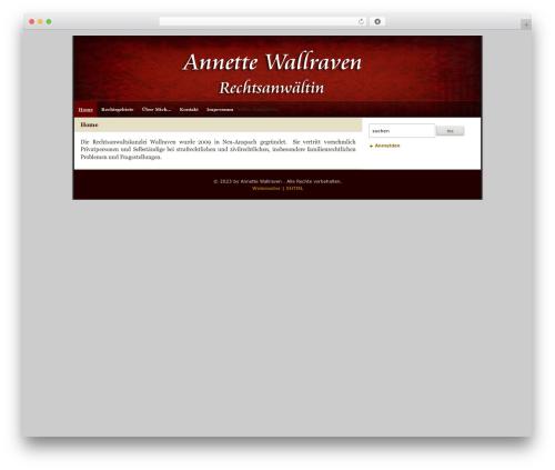 WordPress theme Zeke (2-Column) 1.0 + Widgets - wallraven.com