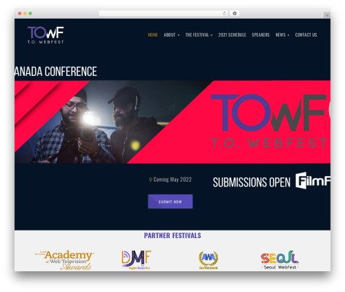 WordPress website template Emeet - towebfest.com