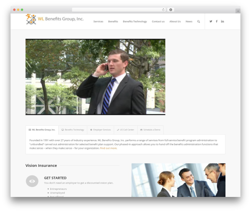 WordPress website template Enfold - wlbenefitsgroup.com