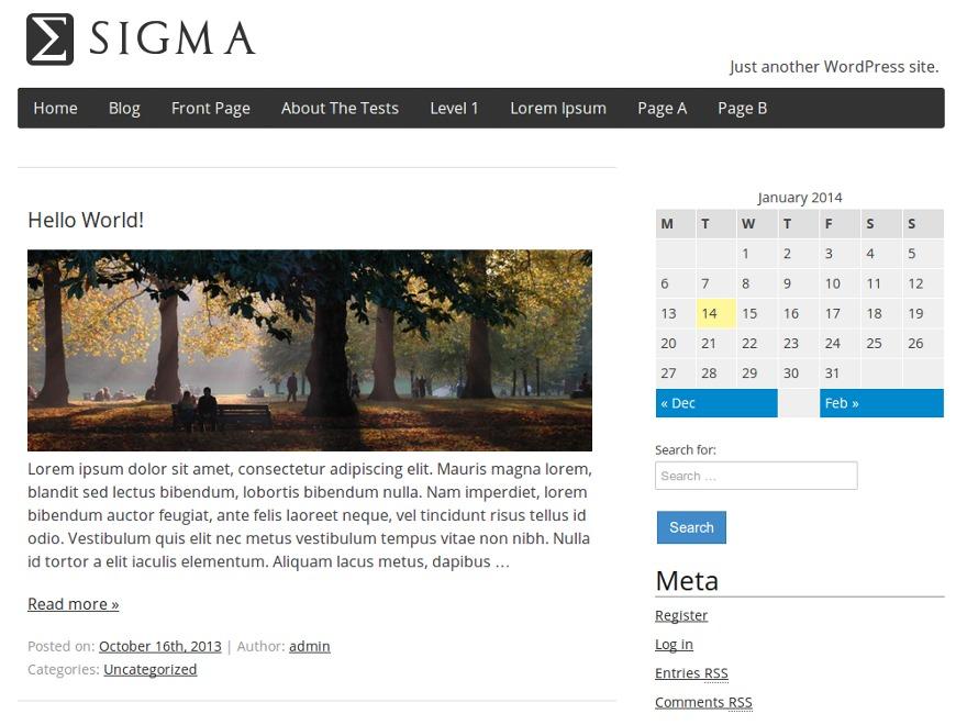 WP theme Sigma