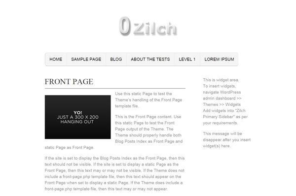 Zilch WordPress magazine theme