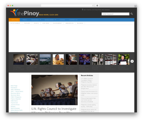 Ashford WordPress news theme - thepinoy.net