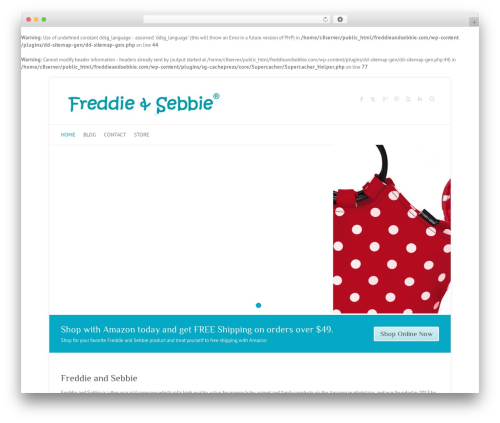 Free WordPress Ecwid Ecommerce Shopping Cart plugin - freddieandsebbie.com