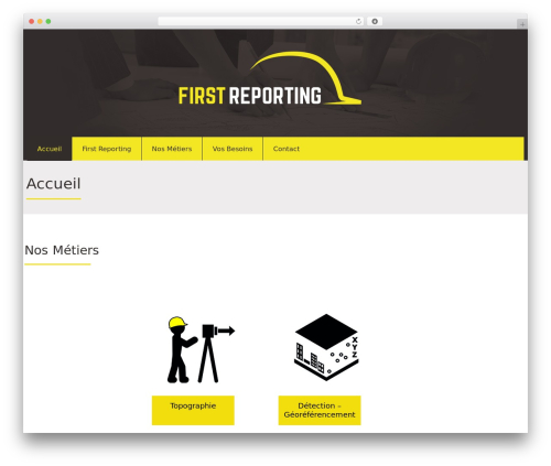 Attorney WordPress theme - first-reporting.com