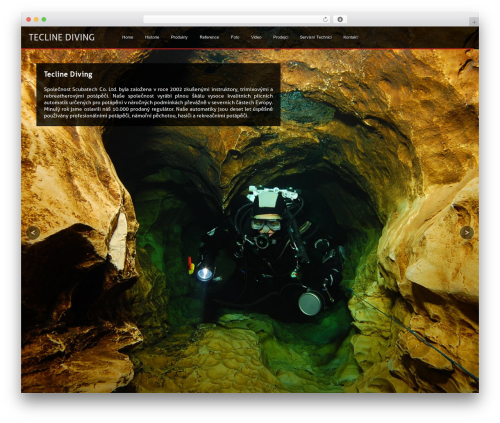Axis WordPress page template - teclinediving.cz