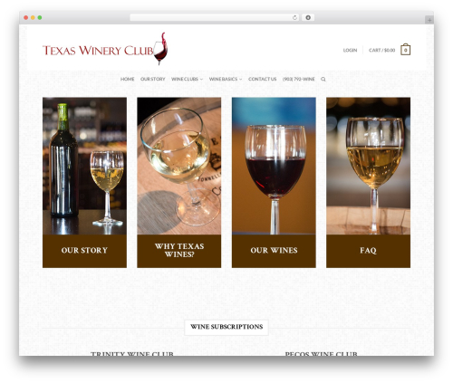 Best WordPress theme Flatsome - texaswineryclub.com