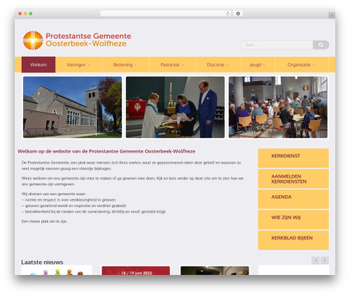 Candidate WordPress theme design - pkn-oosterbeek-wolfheze.nl