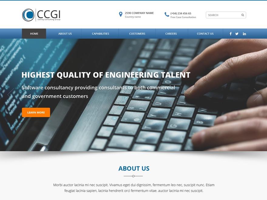 CCGI WordPress theme