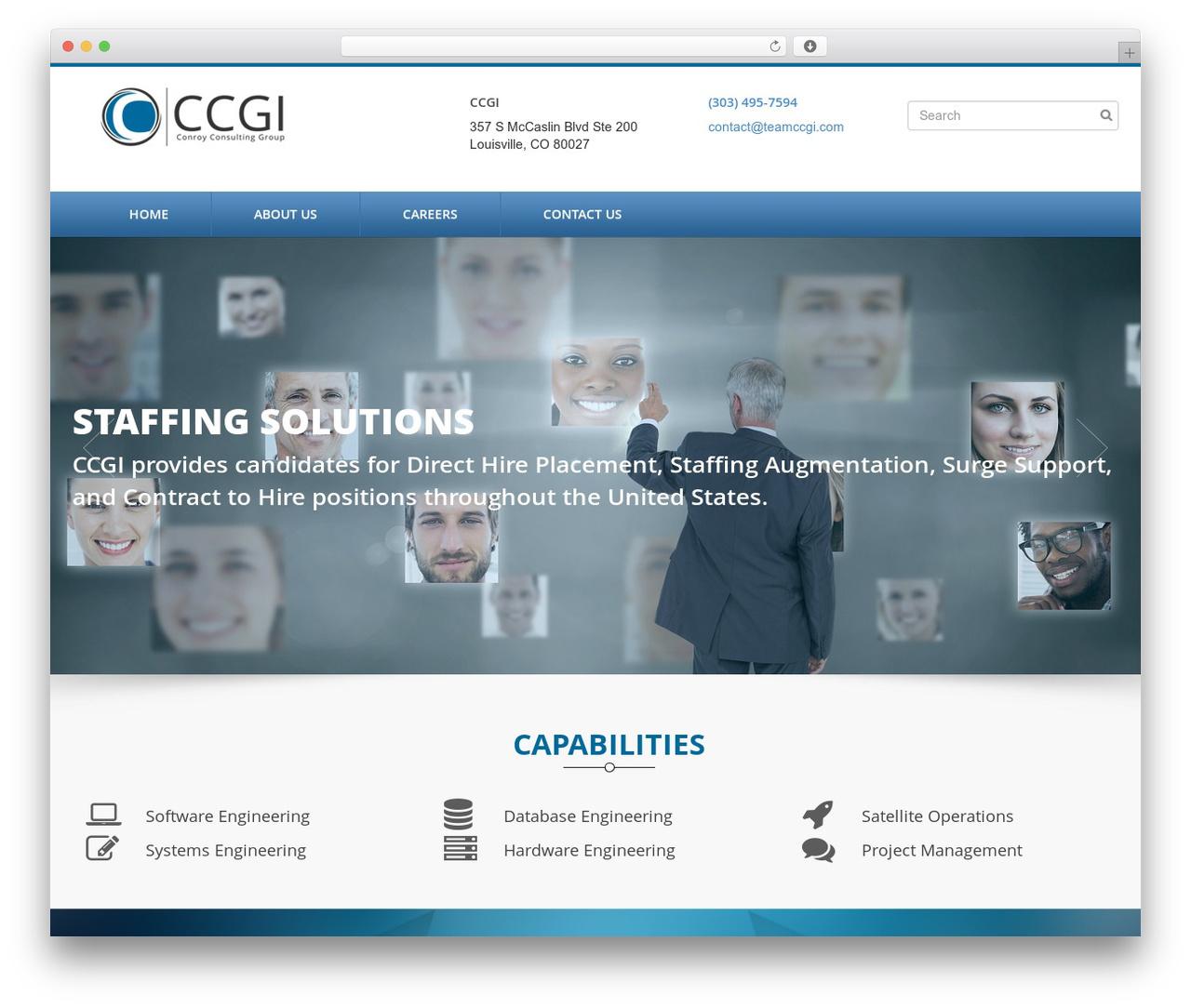 CCGI WordPress theme - teamccgi.com