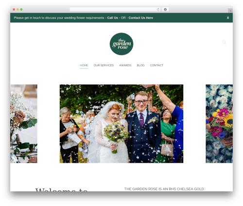 Chester garden WordPress theme - thegardenrose.co.uk