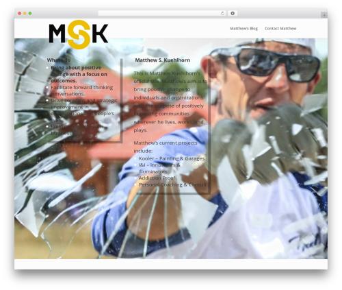 Divi WordPress theme - matthewkuehlhorn.com