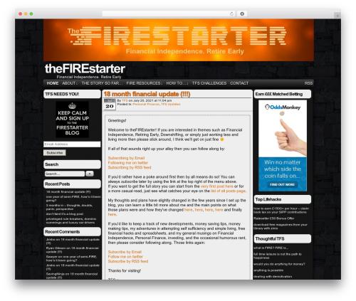 Easel top WordPress theme - thefirestarter.co.uk