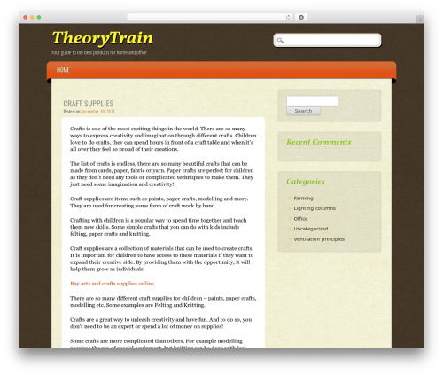 ePublishing WordPress theme - theorytrain.com