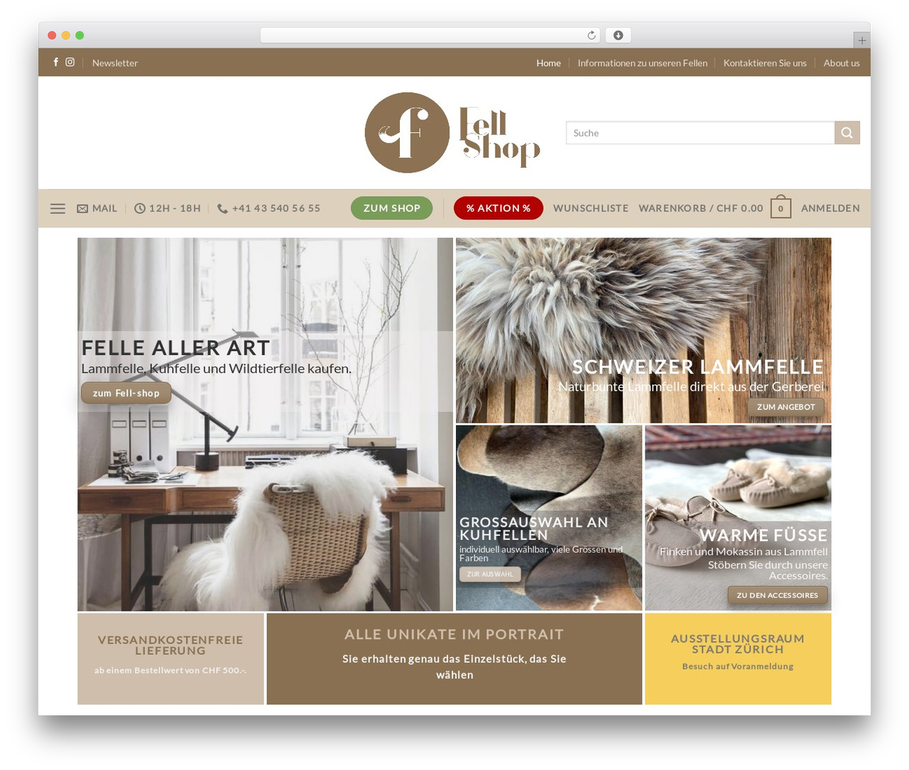 Flatsome WordPress shopping theme - fell-shop.ch