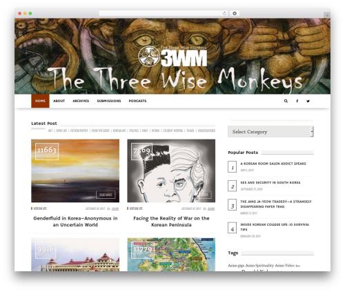 fmagazine premium WordPress theme - thethreewisemonkeys.com
