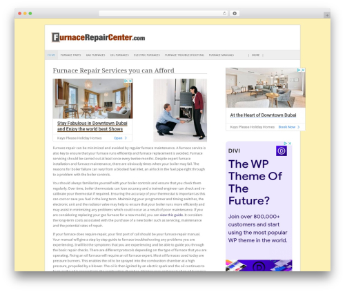 Fresh And Clean WordPress theme - furnacerepaircenter.com