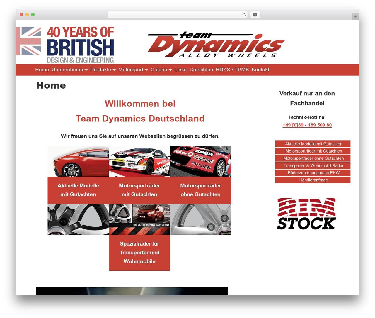 Gridiculous free website theme - teamdynamics.de