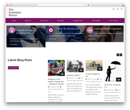 Jollyany premium WordPress theme - thecandidateschool.com