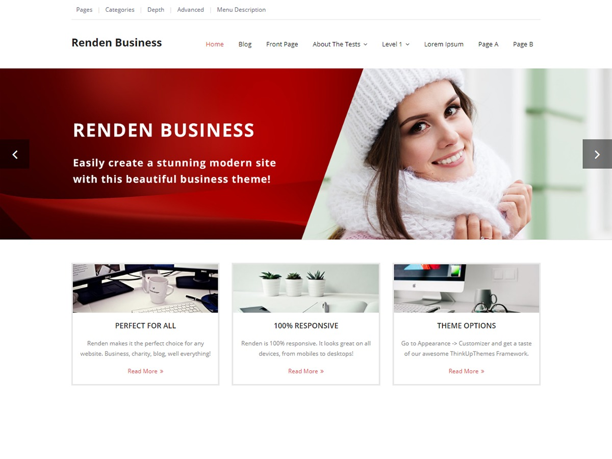 Renden business wordpress template for business by think up themes renden business wordpress template for business flashek
