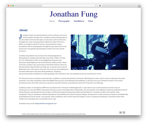 Responsive WordPress theme - fungfolio.com