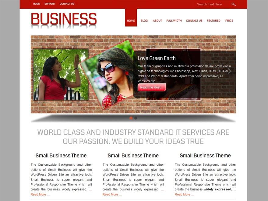 Small Business WordPress photo theme