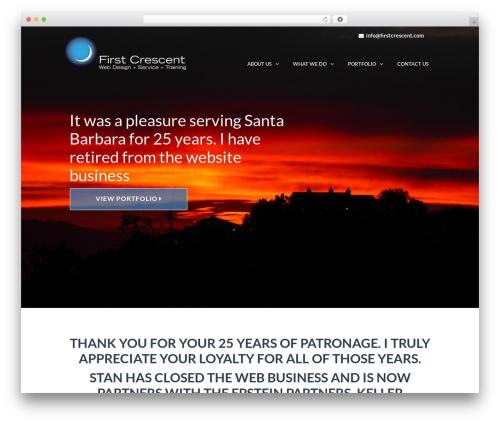 TheFox company WordPress theme - firstcrescent.com