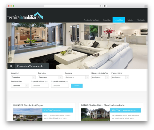 Theme WordPress RealHomes Theme - tecnicainmobiliaria.es