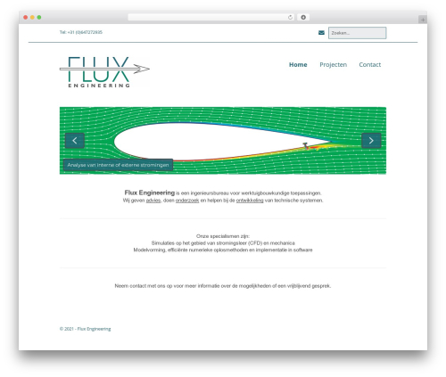 WordPress theme Make - fluxengineering.nl
