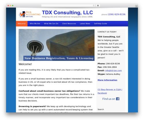 WP template Customized - td-tax.com
