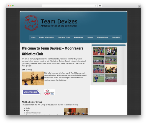 zeeStyle WordPress website template - teamdevizes.org