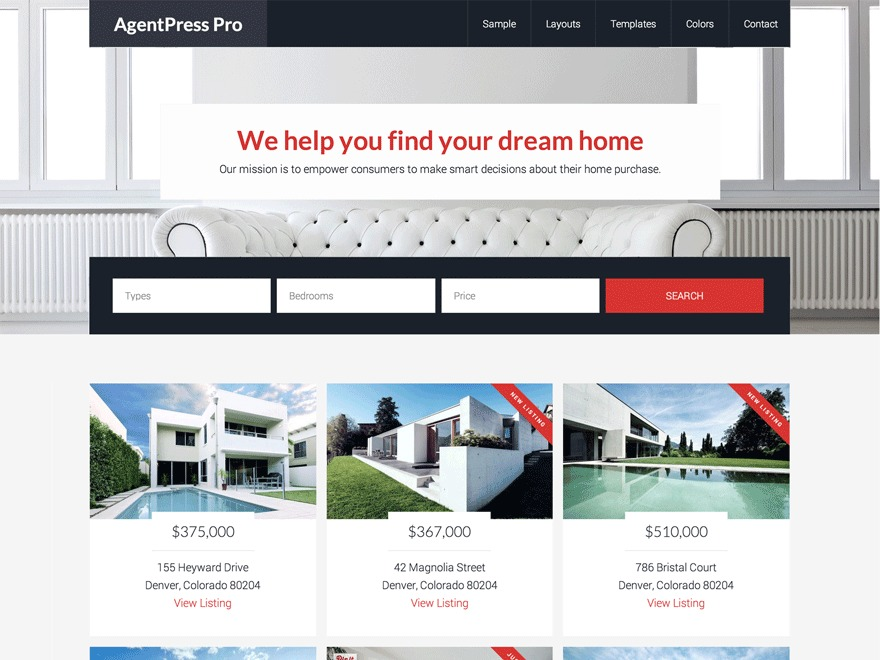 AgentPress Pro template WordPress