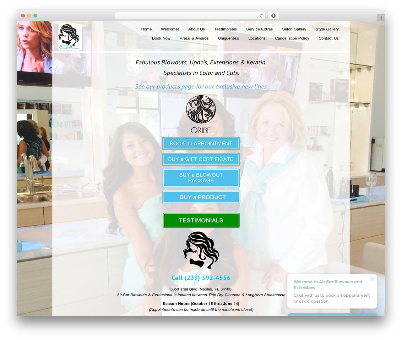Black Label WordPress theme - myairbar.com