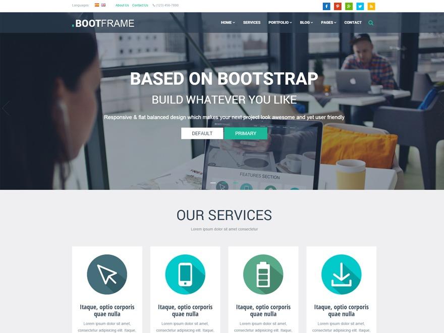 BootFrame Core Child WordPress portfolio template