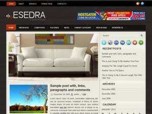 Esedra WordPress blog template