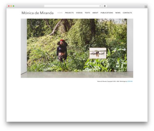 Euxino WordPress theme - monicademiranda.org