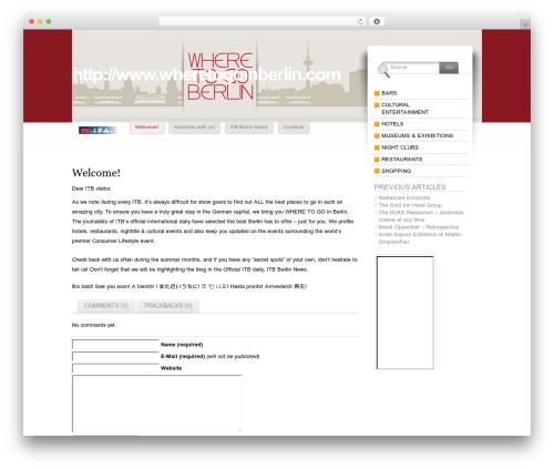 Fusion premium WordPress theme - where-to-go-in-berlin.com