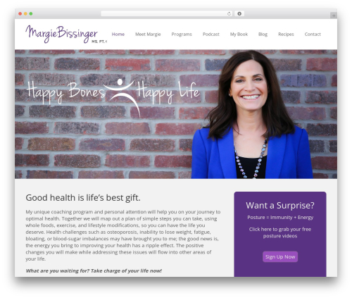 Impreza WP theme - margiebissinger.com