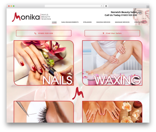 Jupiter massage WordPress theme - monikabeauty.com