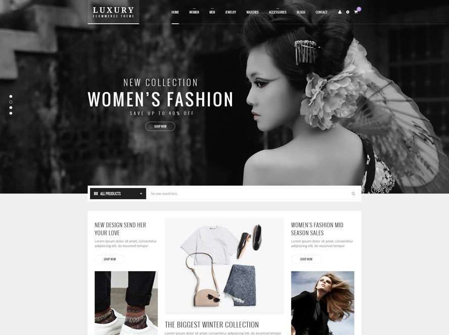 Laneluxury WordPress store theme