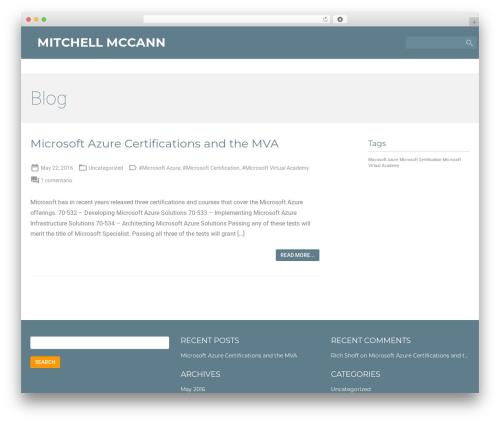 Material for Coders theme WordPress free - mitchell-mccann.com