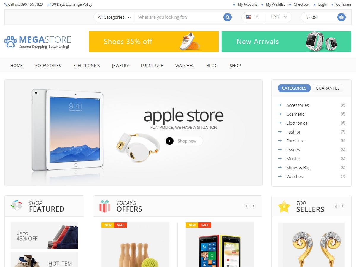 MegaStore WordPress shop theme