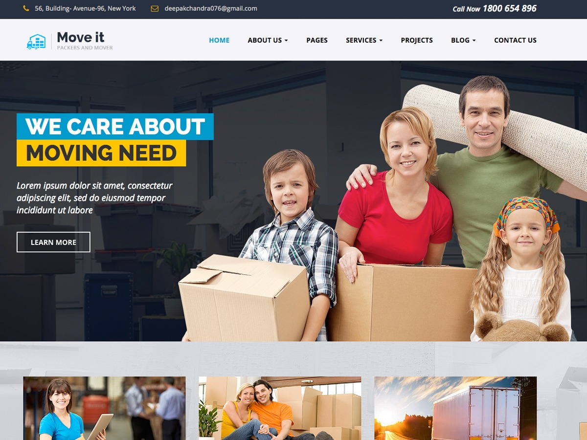 Moveit business WordPress theme