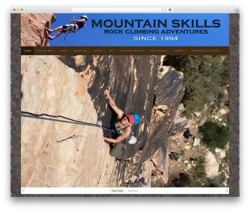 Natural WordPress page template - mountainskillsrockguides.com