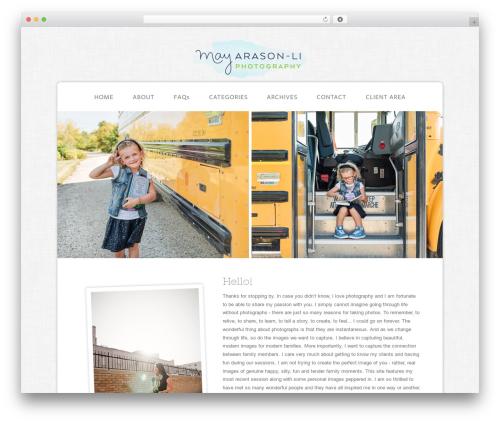 ProPhoto photography WordPress theme - mayarasonliphoto.com