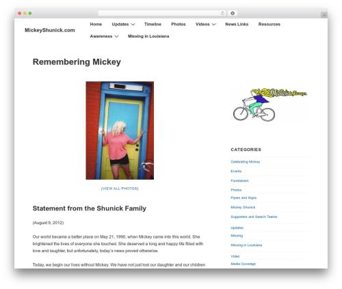 Responsive theme WordPress free - mickeyshunick.com/site