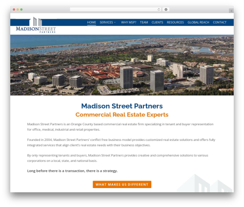 Salient WordPress theme - madisonstreetpartners.net