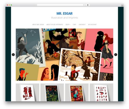 Shop WordPress template - mr-esgar.com