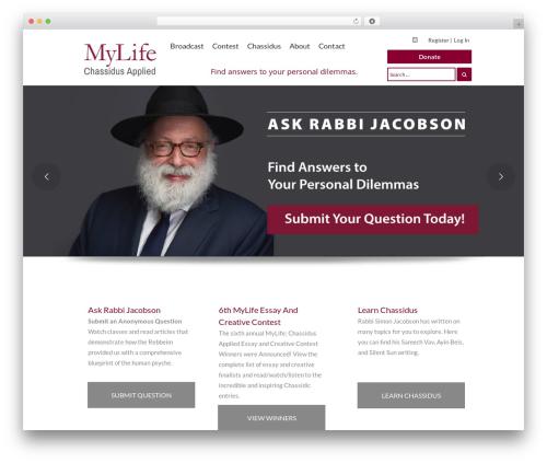 Template WordPress MF - chassidusapplied.com