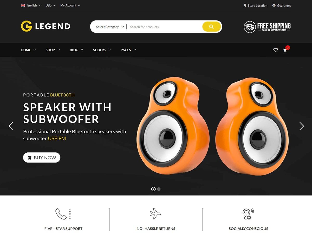 VG Legend WordPress shop theme