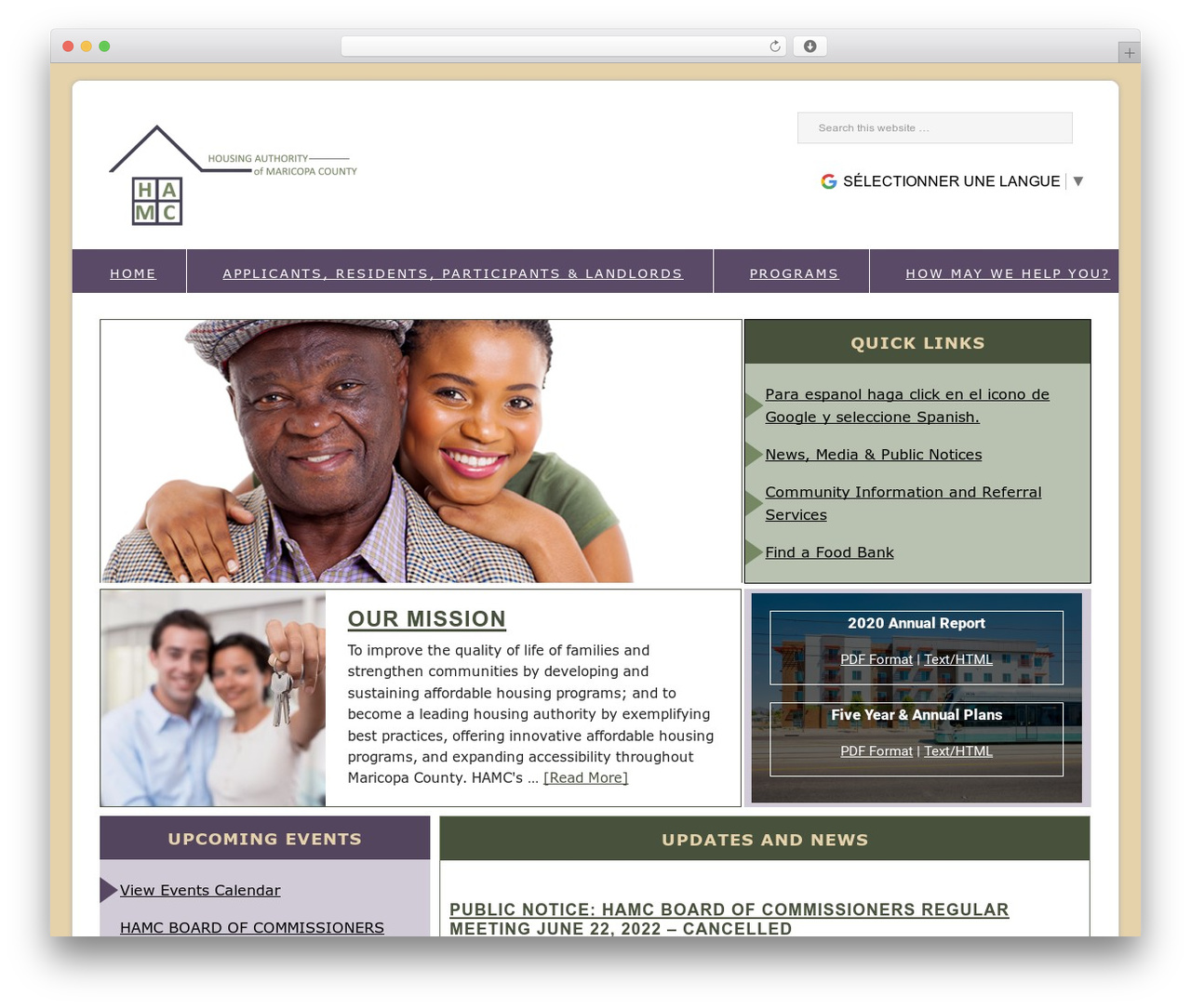WordPress template Genesis - maricopahousing.org
